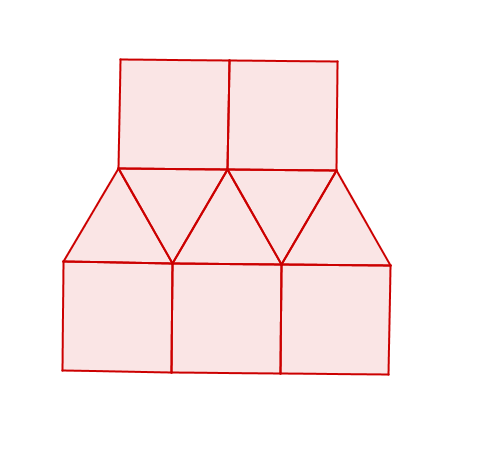 2d diagram made up of triangles and squares