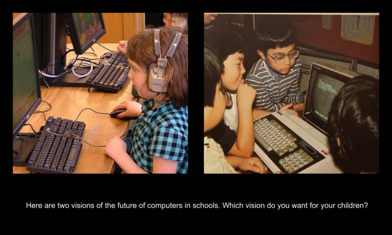 Which vision of computers would you prefer for your children?