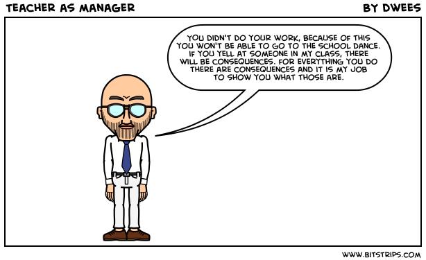 Teacher as manager