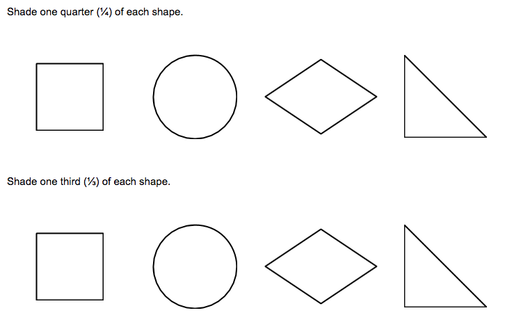Number Names Worksheets fraction shading worksheets Free – Shaded Fractions Worksheet