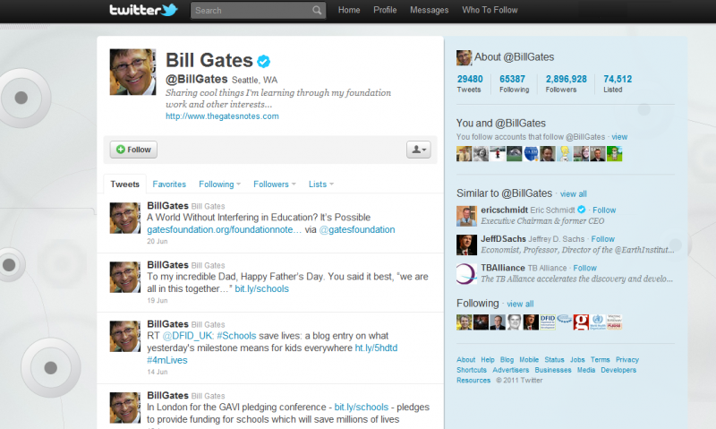 Hacking Bill Gates tweets