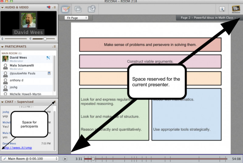 How screen space is allocated in webinars