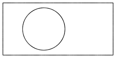 Rectangle with one circle