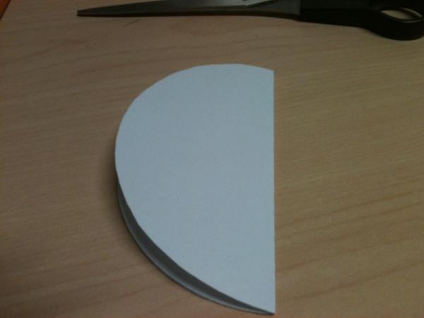 Circle folded in half once