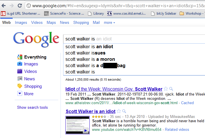 Scott Walker is an idiot