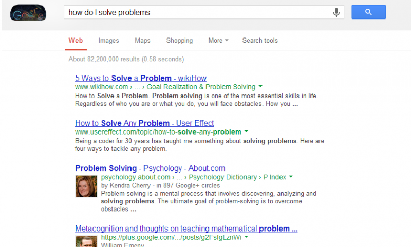 How do I solve problems - Google search