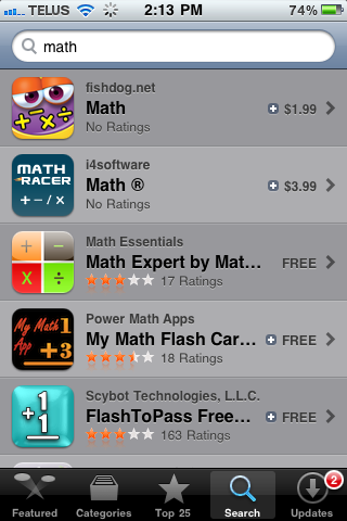 Top five math apps on the iPhone