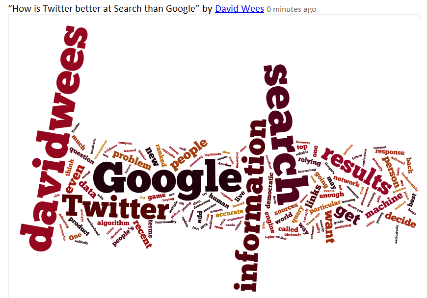 Wordle - Twitter as Search