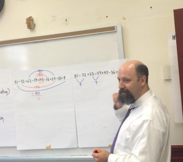 Photo of me teaching
